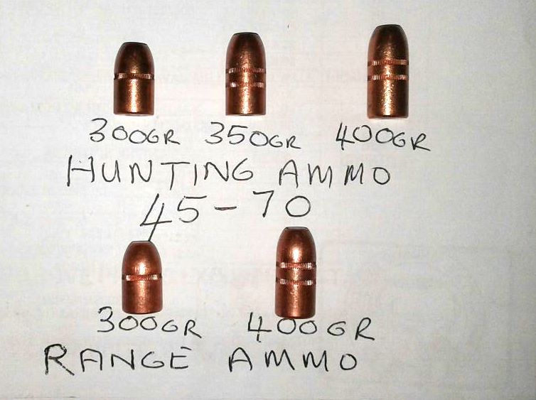 claw range & hunting bullets